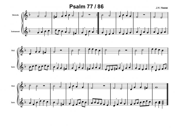 Psalm 77/86