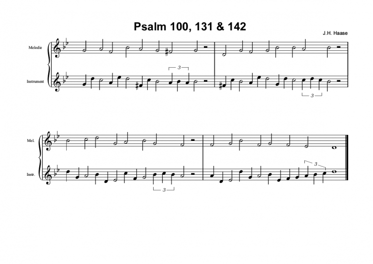 Psalm 100/131/142